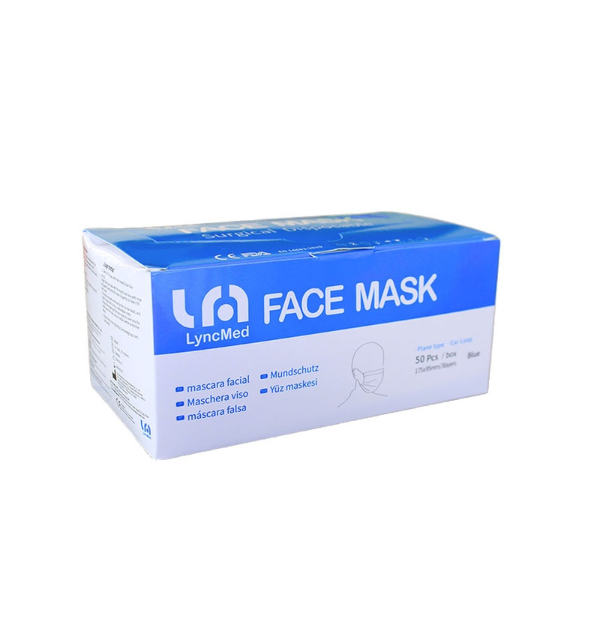 Orange and Peach LyncMed Medical Grade Surgical Face Masks